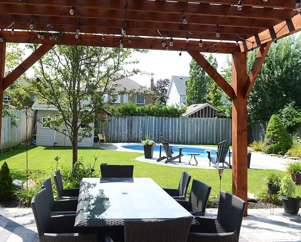 Backyard gazebo